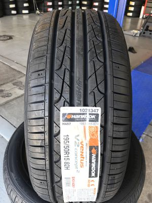 195/50/15 New set of Hankook tires installed for Sale in Rancho Cucamonga, CA