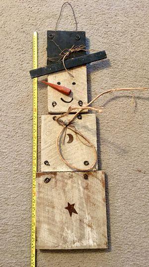 Primitive Snowman Wooden Hanging Wall Decor for Sale in Virginia Beach, VA