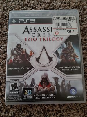 Ps3 Game (Assassins Creed Ezio Trilogy) for Sale in Aubrey, TX