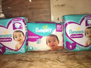 Pampers cruisers size 4 for Sale in Lodi, CA