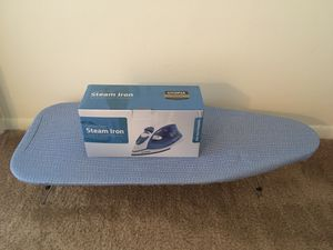 Steam Iron and Portable Ironing Board for Sale in Central, SC