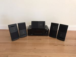 5 Bose 100 speakers and Sony STR-DH720, 5.1channel 550watts 4HDMI easy connect no remote good condition sound great.. etc. for Sale in Mukilteo, WA