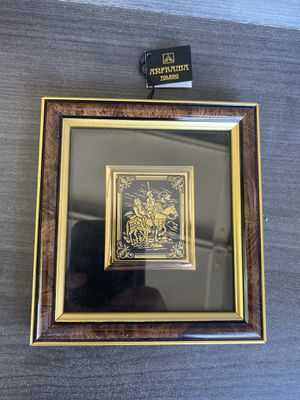5 inch framed 24k two soldiers on horses in mint condition for Sale in Phoenix, AZ