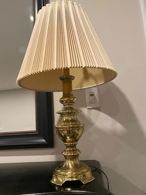 Brass Table Lamp With Beige Lamp Shade for Sale in Vienna, VA