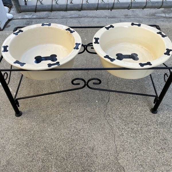 Dog Food Dish Set