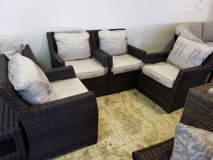 New 4pc outdoor patio furniture club chair set tax included delivery available for Sale in Hayward, CA