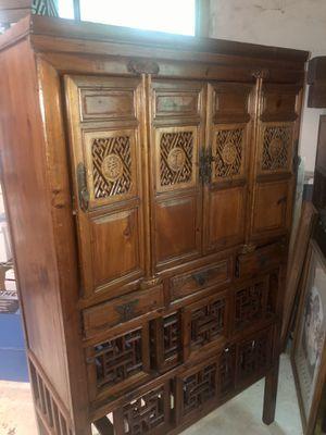 Antique Asian Inspired Armoire for Sale in Atlanta, GA