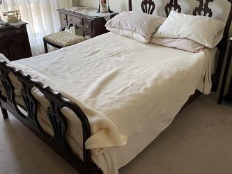 1951 Full Sized Bed With Mattresses And Side Table for Sale in Boston,  MA