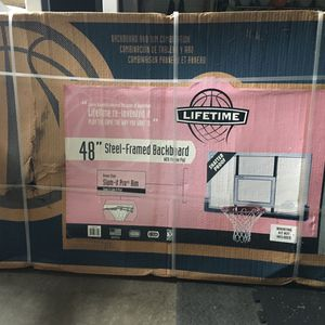 New Lifetime Basketball Backboard And Spaulding U-Turn Lift Mounting System for Sale in Milwaukie, OR
