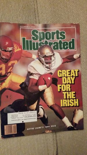 3 NOTRE DAME SPORTS ILLUSTRATED TONY RICE for Sale in Montebello, CA
