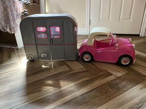 American Doll size camper and camero for Sale in Houston, TX