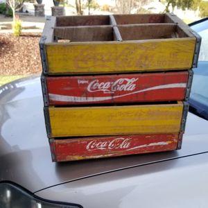 Old Wood Coca Cola Bottle Crates Coke for Sale in Bonita, CA