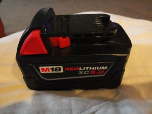 Milwaukee battery 5.0 new for Sale in Crete, IL