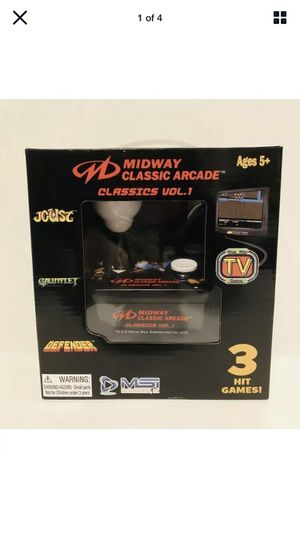 Midway Classic Arcade Classics Vol. 1 Plug TV Game. Joust, Gauntlet, Defender for Sale in West Milford, NJ