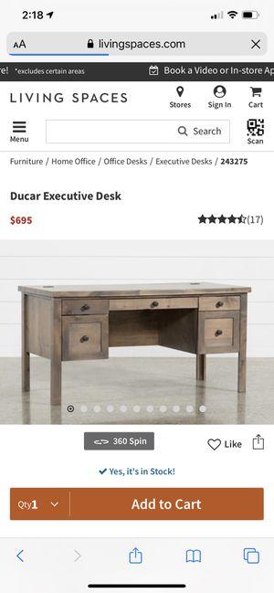 Ducar Executive Desk for Sale in Riverside, CA