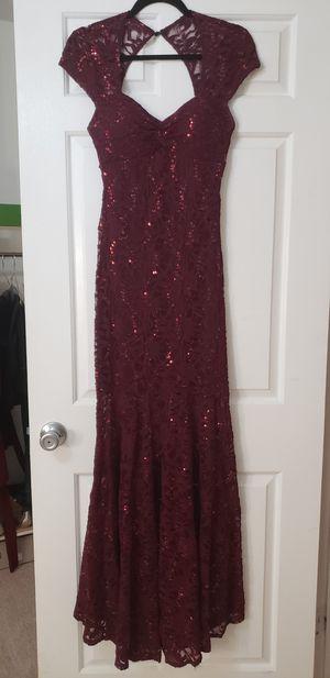 Burgundy sequins long formal dress for Sale in Woodbridge, VA