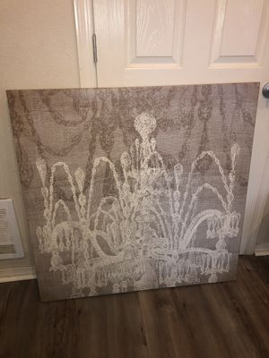 Beautiful large chandelier canvas wall art for Sale in Sheridan, OR