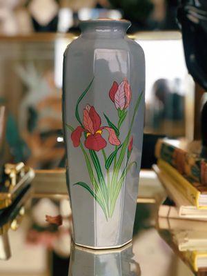Blue Grey Japanese Floral Vintage Vase for Sale in Phoenix, AZ
