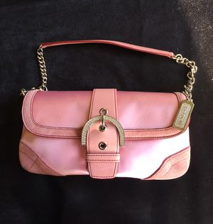 Beautiful Coach H04J-8949 Pink Satin / Leather Shoulder Bag / Clutch, NWOT for Sale in Washington, DC