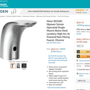 Moen Commercial Touch less Faucets for Sale in Norcross, GA
