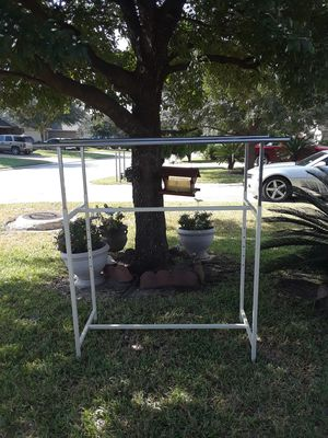 Double hanger clothes rack for Sale in Houston, TX