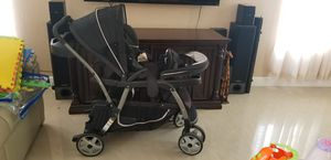 Graco ready2 grow double stroller click connect for Sale in TWN N CNTRY, FL