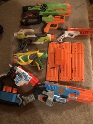 Nerf gun lot for Sale in Knightdale, NC