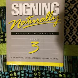 Signing Naturally Student Workbook Level 3 for Sale in Portland,  OR