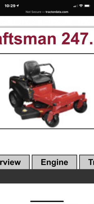 Craftsman Z6400 riding lawn mower. for Sale in Suffolk, VA