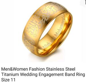 Stainless Steel gold ring for Sale in Saginaw, MI