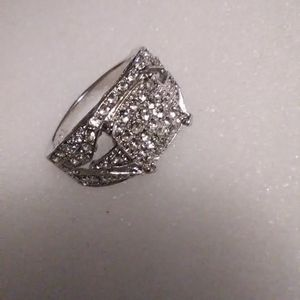 Men's Size 10 Diamond Quality White Sapphire 925 Sterling Ring for Sale in Lombard, IL