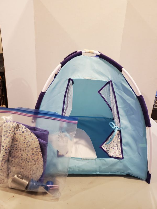 American Girl tent and sleeping bag