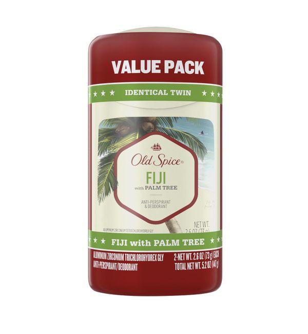 Old Spice Antiperspirant Deodorant for men, Fiji, 2.6oz , 2 pack