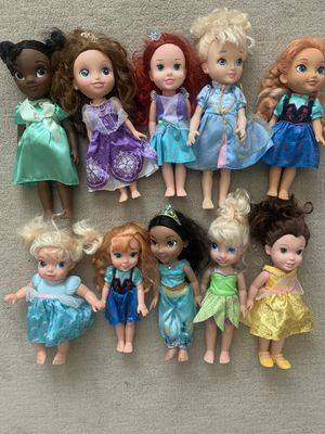 Disney Princess dolls and Tinkerbell for Sale in Gilbert, AZ