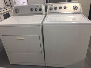 WHIRLPOOL WASHER AND DRYER SET! 5 month warranty for Sale in Charlotte, NC