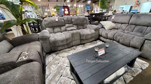 NEW IN THE BOX,SOFA, LOVESEAT, RECLINER, GREY, IN STOCK NOW. for Sale in Midway City, CA