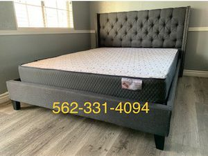 ♦️New Gray Full Bed w Mattress Included♦️ for Sale in San Jose, CA
