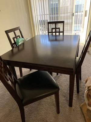 Wooden dining table chairs included for Sale in Hutto, TX