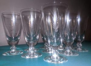Antique Cocktail Glasses - Fostoria Crystal (11) for Sale in Plymouth, MI