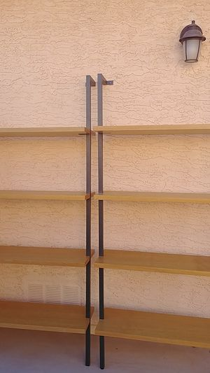 Nice looking shelves. Sturdy when bolted to wall for Sale in Chandler, AZ
