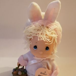 Enesco Precious Moments Little Girl Doll In Bunny Suit. Small Mark On Face for Sale in Southington, CT