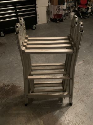 Perfect Folding Ladder Multi Positional 12 foot Aluminum Sturdy $120 for Sale in Plantation, FL