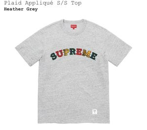 Brand new never used SUPREME plaid appliqué S/S top tee t-shirt size medium m for Sale in Westminster, CA