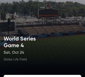 2 Tickets for Game 4 of World Series for Sale in Greenville, SC