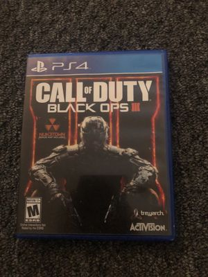 Call of duty black ops 3 ps4 game for Sale in Saint James, MO