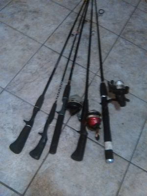 Assorted fishing rods, negotiable for Sale in Phoenix, AZ