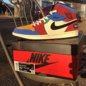 "Jordan 1 Mid Fearless ""Blue The Great"" Size 10.5 VNDS for Sale in Smyrna, TN"