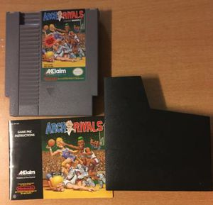 Arch Rivals A Basket Brawl Nintendo NES Video Game Cartridge Manual for Sale in Queens, NY