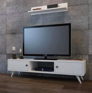 Aspen tv unit/ with wall shelf /modern for small space for Sale in Houston, TX