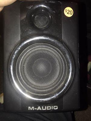 One m-audio studio speaker. It is just the right speaker $20 for Sale in Manteca, CA
